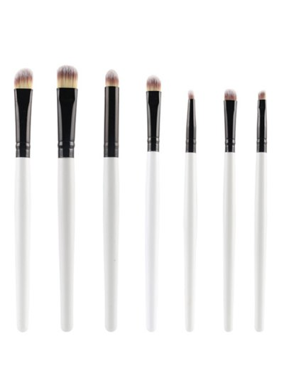 7 Pcs Eye Makeup Brushes Set - WHITE  Mobile