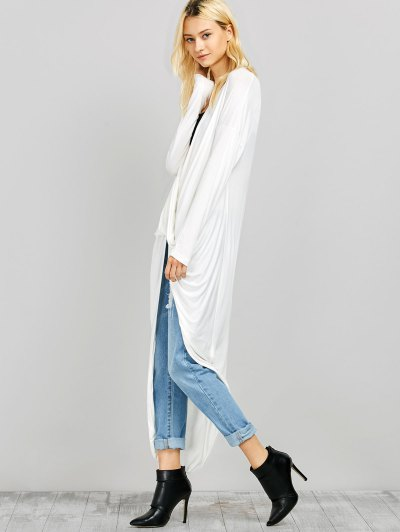 Twist Front High Low Top - WHITE L Mobile