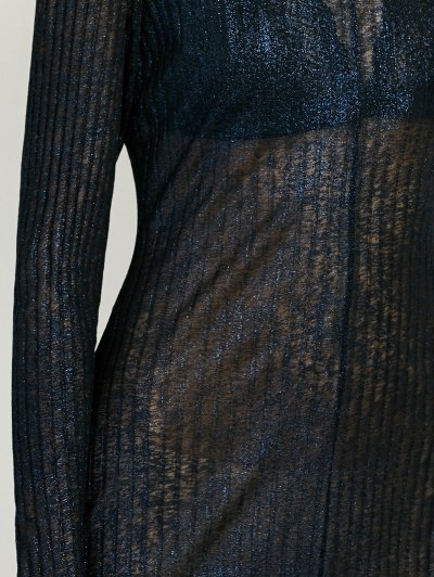 Shimmer Long Dress - PURPLISH BLUE XL Mobile
