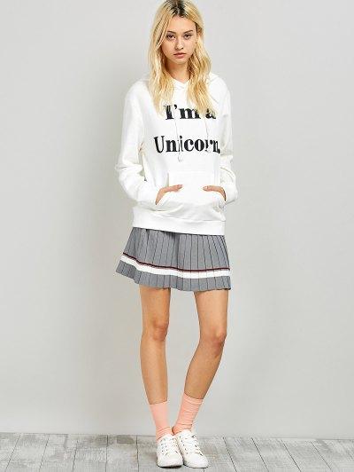 I am a Unicorn Graphic Hoodie - WHITE L Mobile
