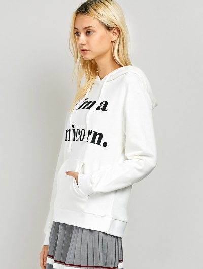 I am a Unicorn Graphic Hoodie - WHITE M Mobile