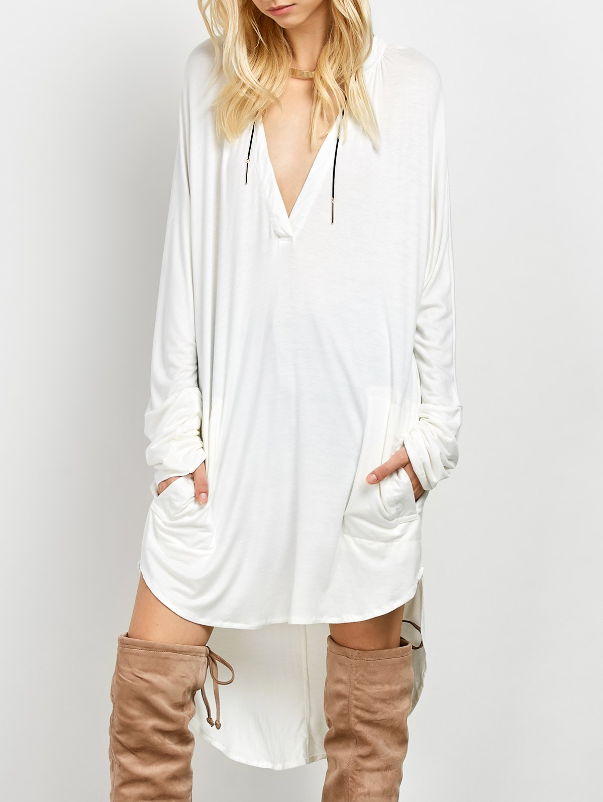 High-Low Long Sleeve Dress