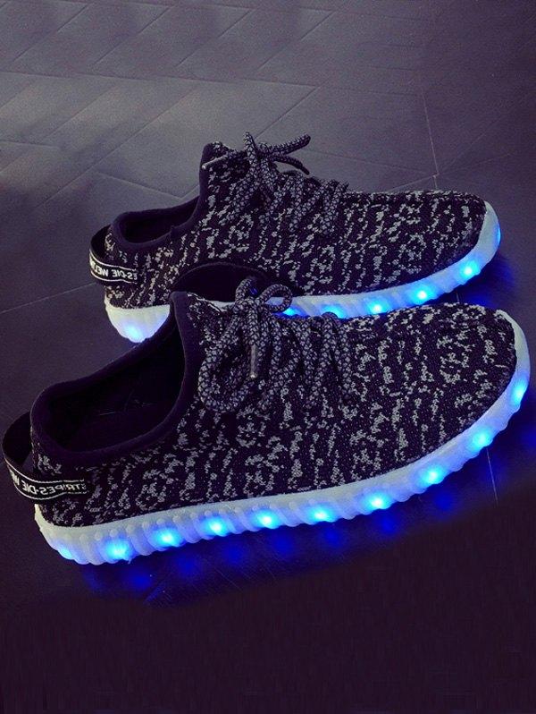 Lights Up Led Luminous Lace-Up Athletic Shoes
