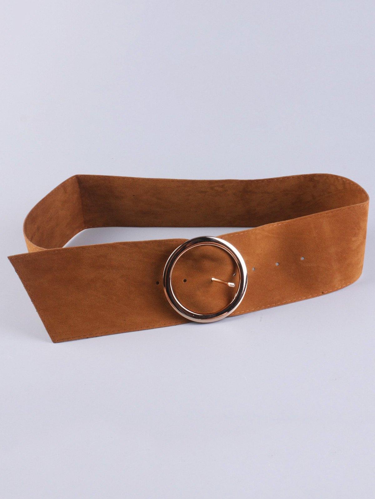 Hollow Ring Velvet Wide Belt