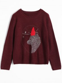 Bear Jacquard Sweater