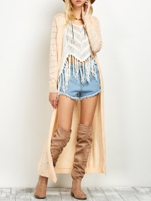 Open Stitch Longline Cardigan