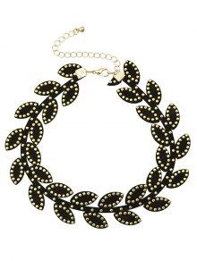 Rivet Leaf Choker Necklace