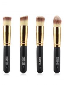 4 Pcs Foundation Brushes - Black