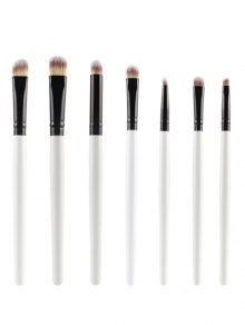 7 Pcs Eye Makeup Brushes Set - White
