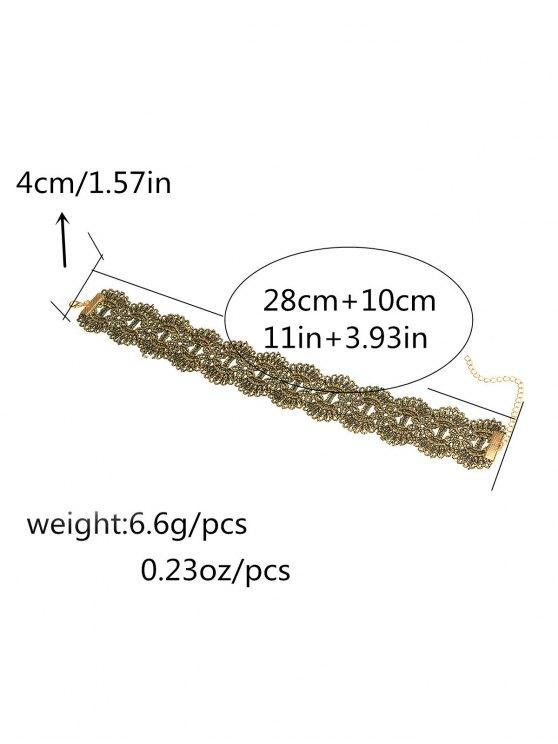 Medallion Wide Choker - GOLDEN  Mobile