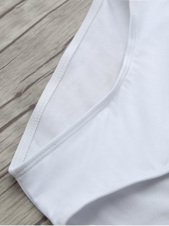 Birthday Slay Letter Swimwear - WHITE M Mobile