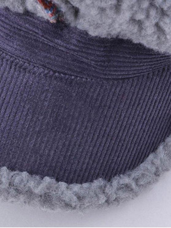 Striped Flocking Curved Brim Hat -   Mobile