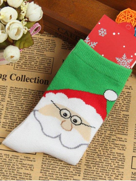 Pair of Santa Clau Jacquard Knitted Socks -   Mobile