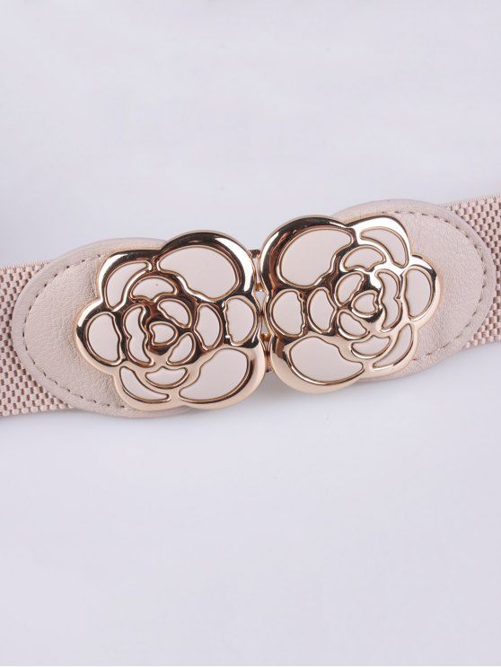 Rose Carve Elastic Waist Belt -   Mobile