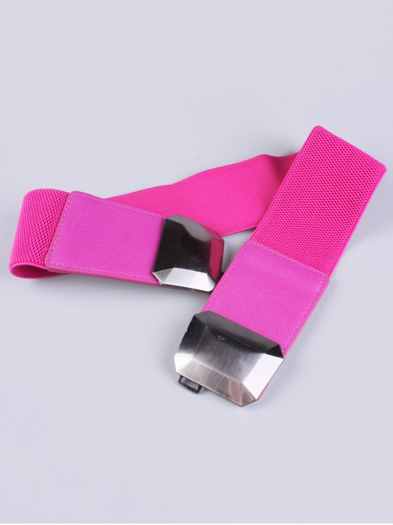 Smooth Alloy Buckle Elastic Waist Belt -   Mobile