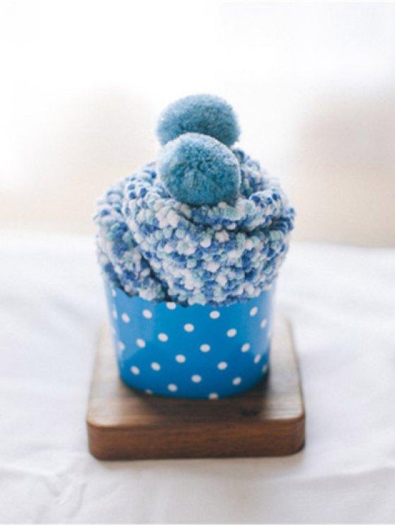 Coral Fleece Chuzzle Heathered Socks - BLUE  Mobile