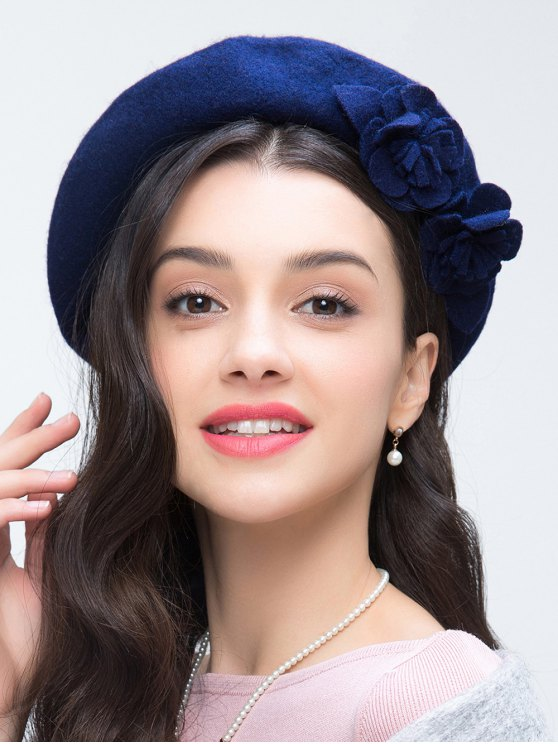 Flower French Painter Beret - ROYAL  Mobile