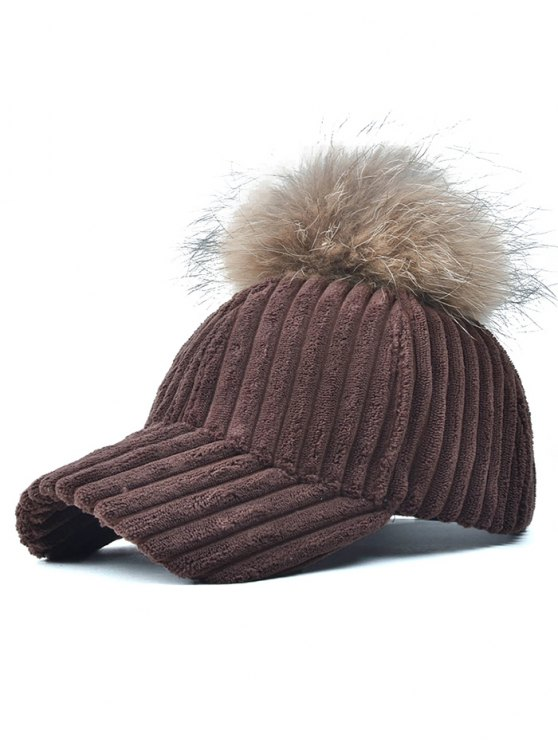 Pom Ball Corduroy Baseball Hat -   Mobile