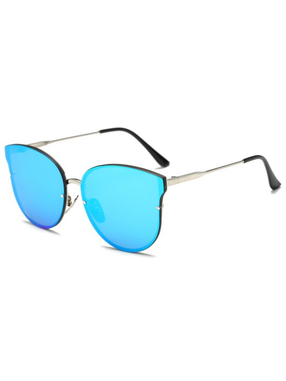 Full Rims Butterfly Mirrored Sunglasses - ICE BLUE  Mobile