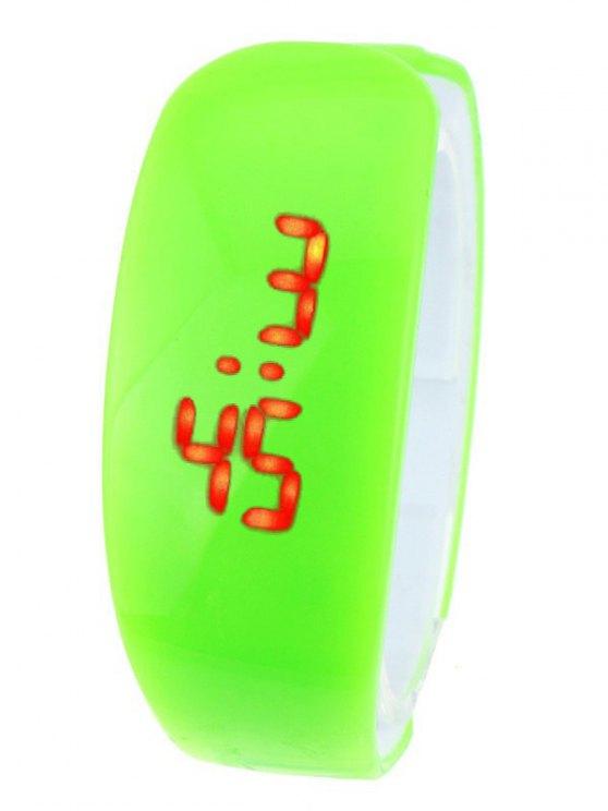 Plastic LED Digital Watch - GREEN  Mobile