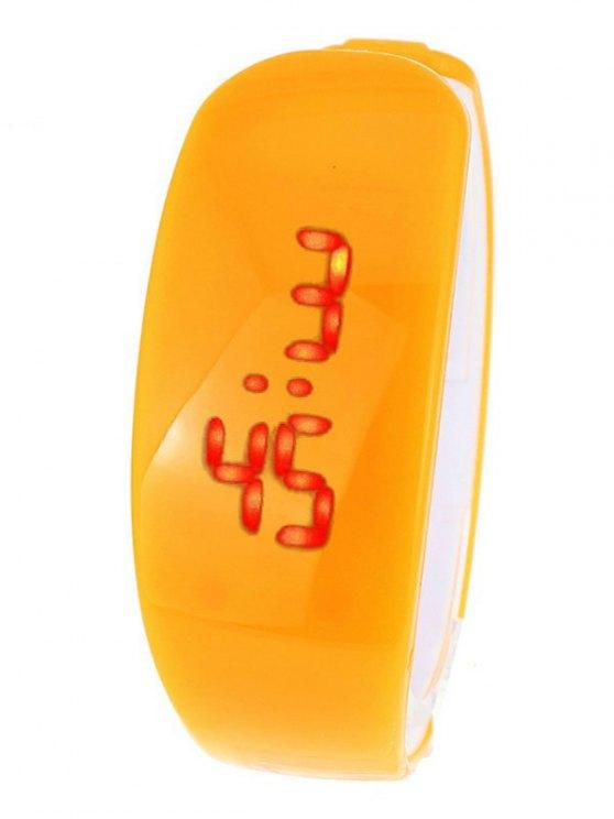 Plastic LED Digital Watch - ORANGE  Mobile