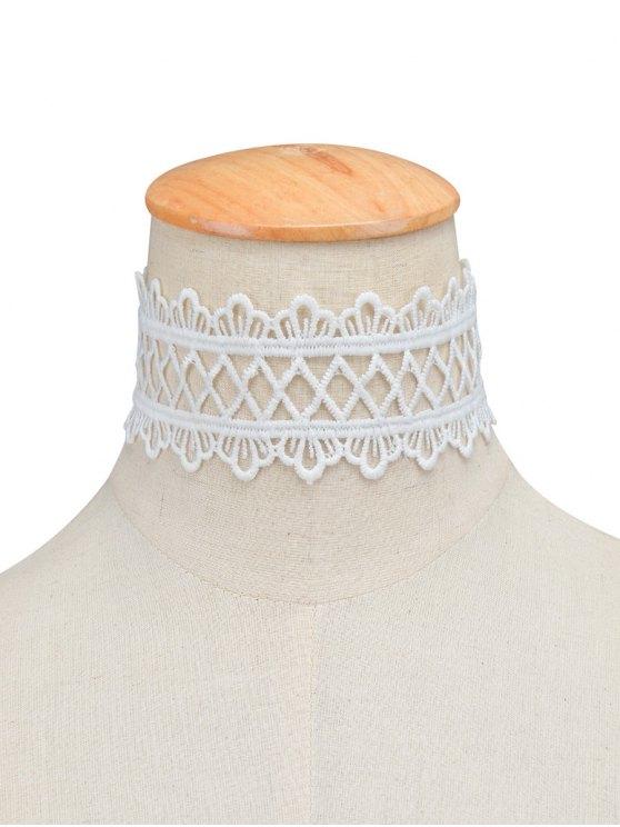 Vintage Lace Crown Geometric Choker -   Mobile