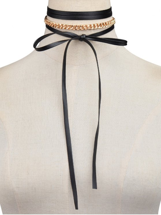 Bowknot Chain Necklace -   Mobile