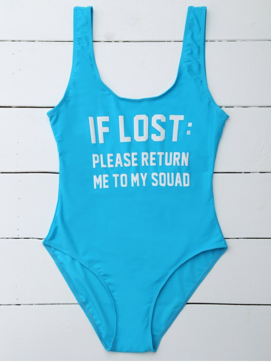 If Lost Letter Swimwear - BLUE XL Mobile