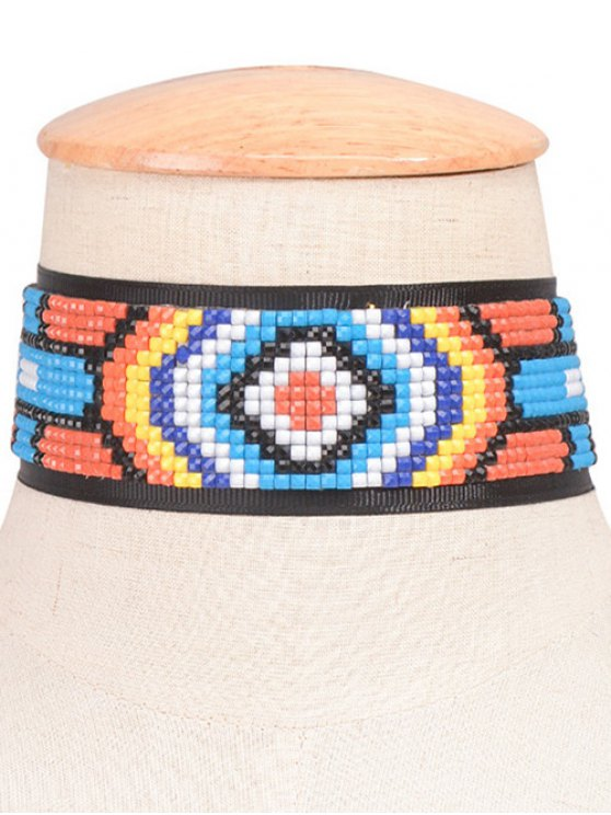 Mosaic Geometric Choker - BLACK  Mobile