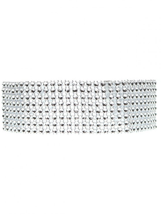 Layered Plastic Choker - SILVER  Mobile