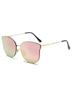 Full Rims Butterfly Mirrored Sunglasses - Pink