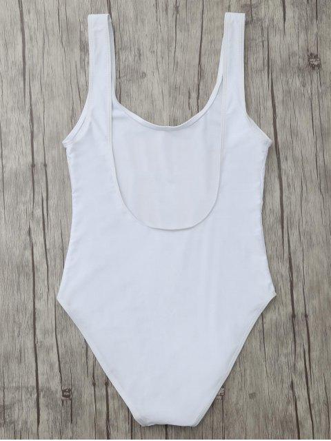 chic Birthday Slay Letter Swimwear - WHITE XL Mobile