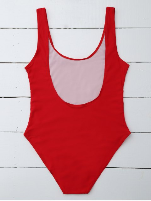 hot If Lost Letter Swimwear - RED XL Mobile