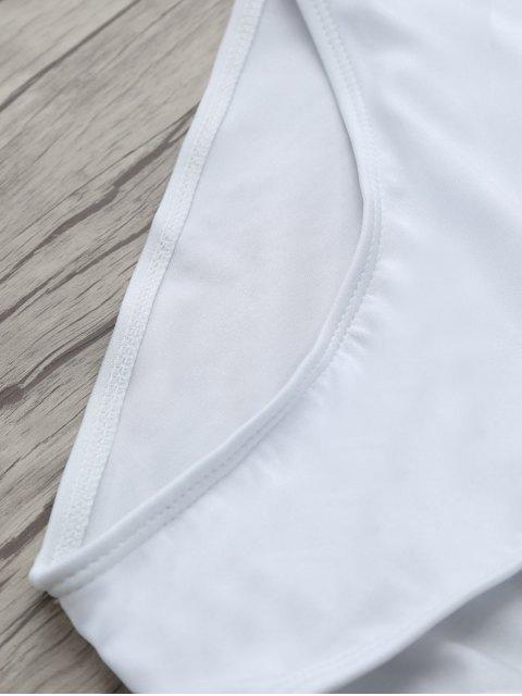 womens If Lost Letter Swimwear - WHITE XL Mobile