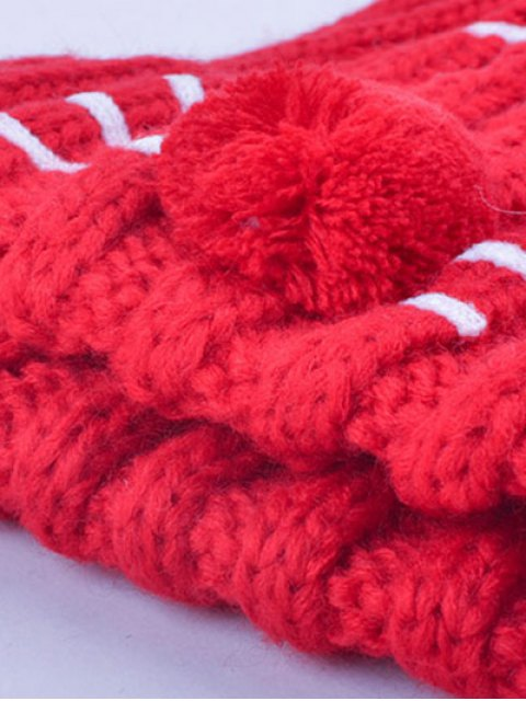 shops Cat Beard Pom Ball Stripy Beanie -   Mobile