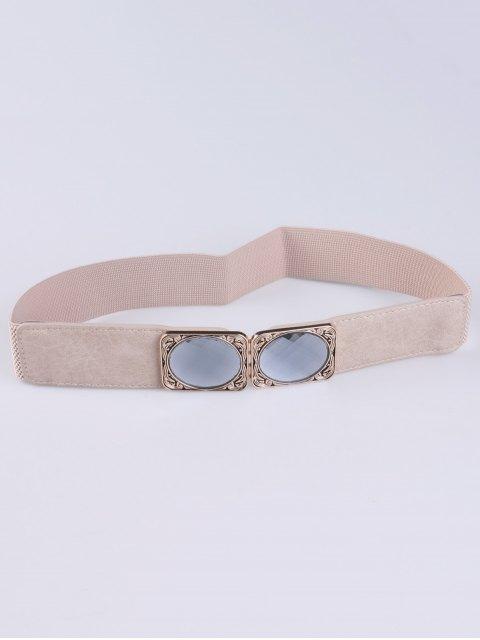 ladies Faux Opal Elastic Waist Belt -   Mobile
