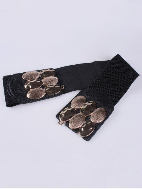 new Oval Metal Elastic Waist Belt -   Mobile