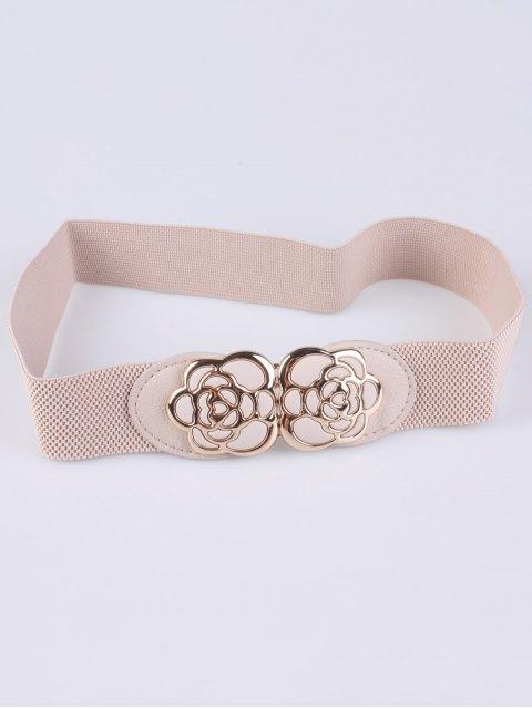 hot Rose Carve Elastic Waist Belt -   Mobile