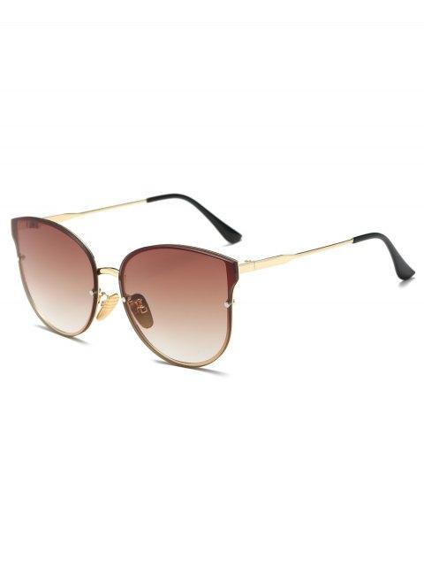 best Full Rims Butterfly Sunglasses - TEA-COLORED  Mobile