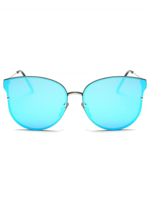 new Full Rims Butterfly Mirrored Sunglasses - ICE BLUE  Mobile