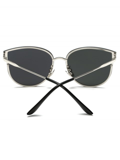 outfit Full Rims Butterfly Mirrored Sunglasses - SILVER  Mobile