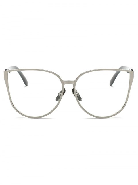 shop Oversized Butterfly Sunglasses - SILVER  Mobile