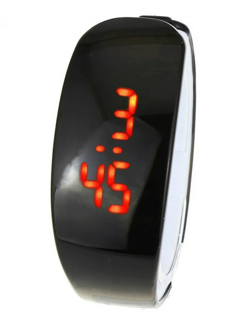 latest Plastic LED Digital Watch - BLACK  Mobile