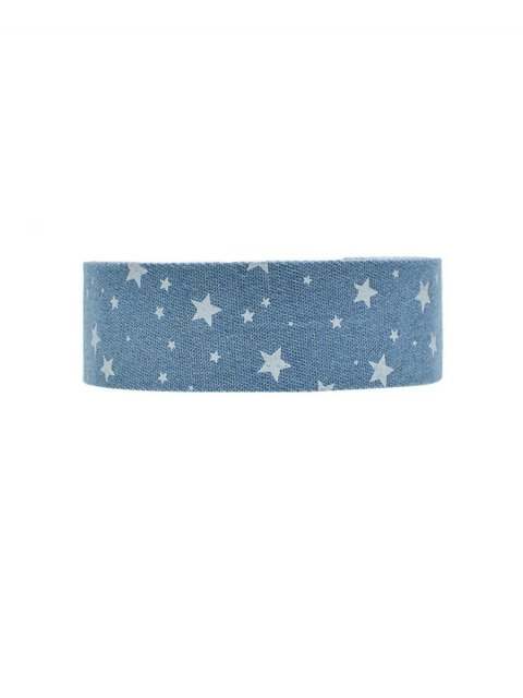 affordable Star Print Denim Choker Necklace -   Mobile