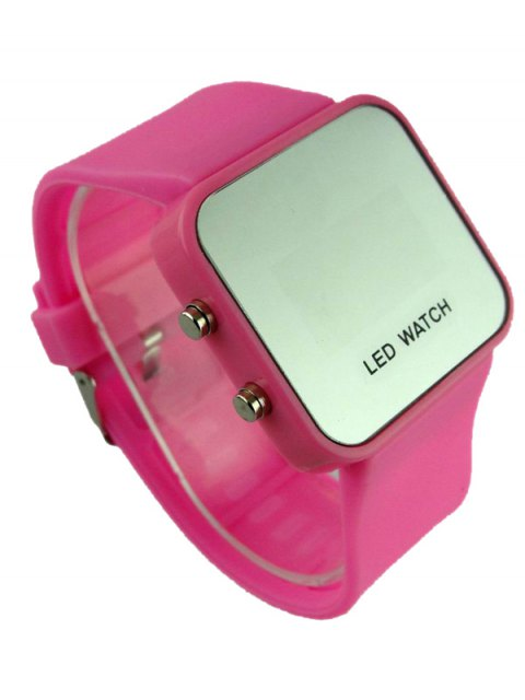 women's LED Silicone Digital Watch - PINK  Mobile