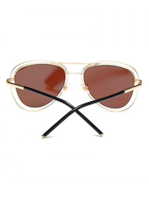chic Double Rims Mirrored Pilot Sunglasses - ICE BLUE  Mobile