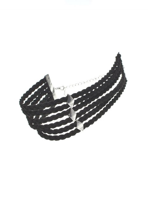 new Braid Rope Choker Necklace - BLACK  Mobile