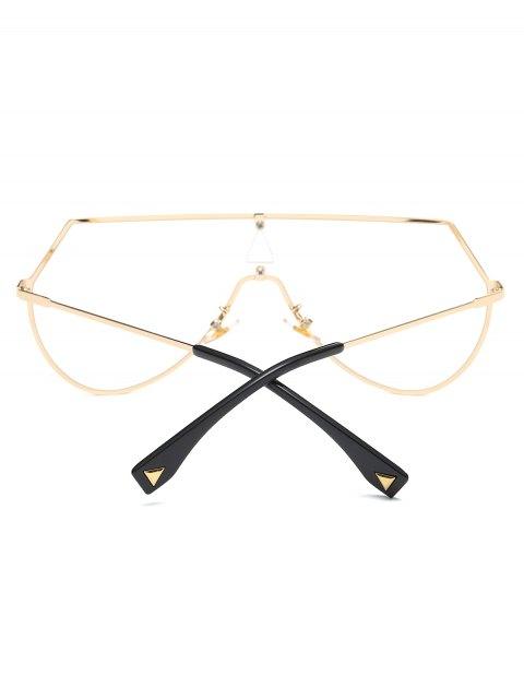 buy Transparent Lens Shield Sunglasses - GOLDEN  Mobile