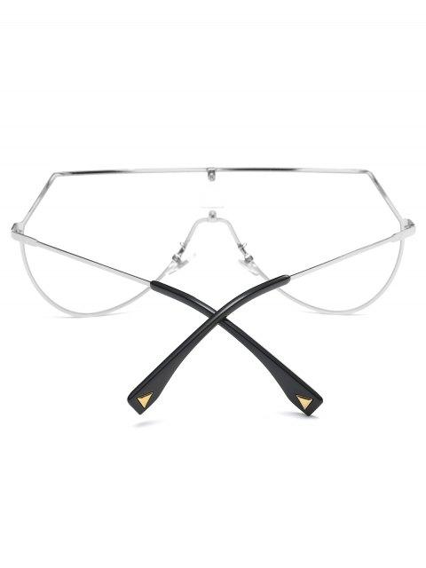 womens Transparent Lens Shield Sunglasses -   Mobile