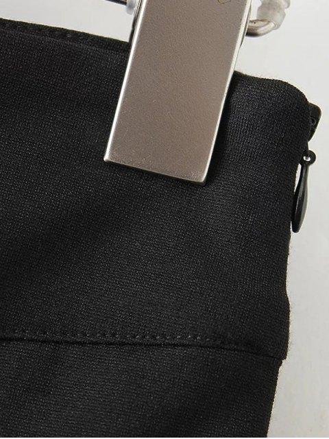 affordable Asymmetric Trumpet Skirt - BLACK S Mobile